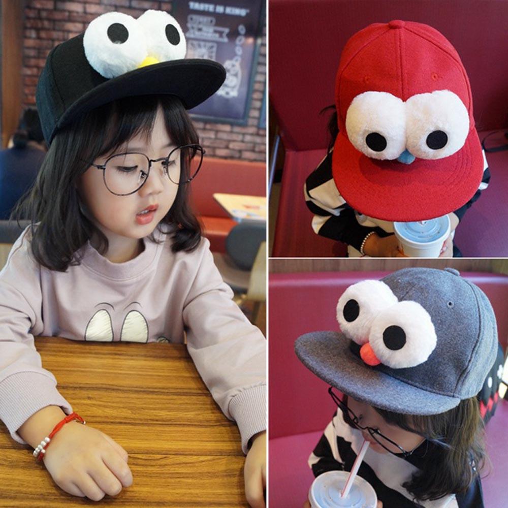 Cute Baby Girls Boys Kids woolen Spring Autumn Big Eyes Caps Hats