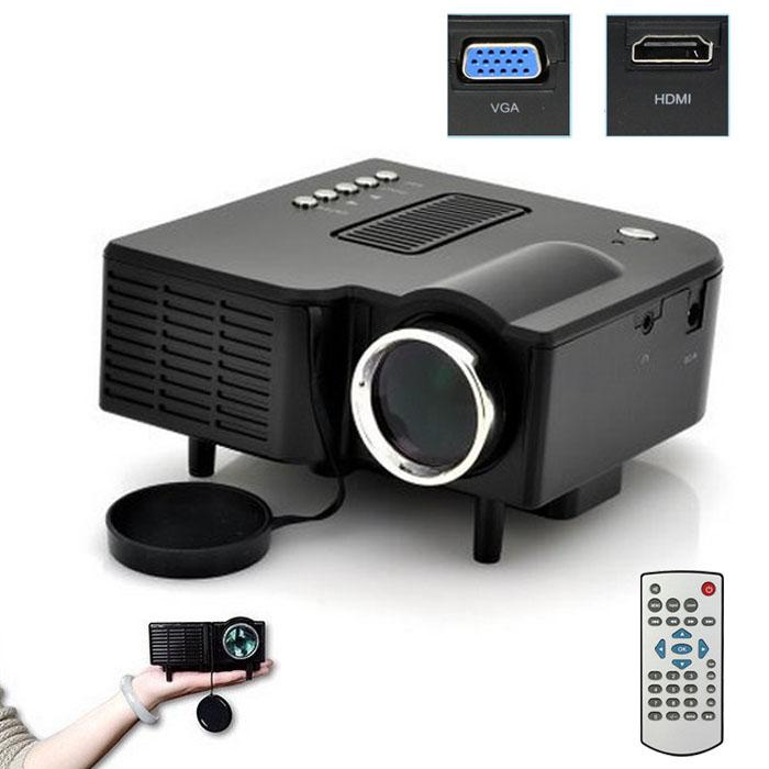 Multimedia LED Projector Home Cinema Theater Support AV VGA USB SD HDM