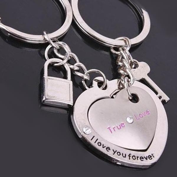 Couple s Key  amp  Lock Keychain Set 91dc2fe5e2d3