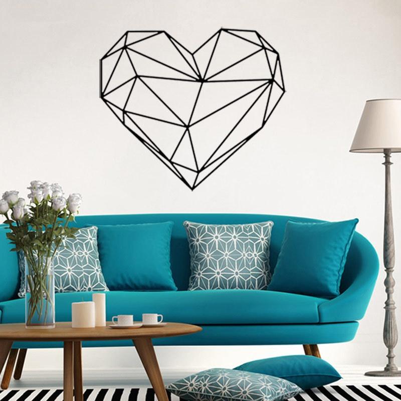 Geometric Design Wall Sticker Geometry Romantic Decals 3D