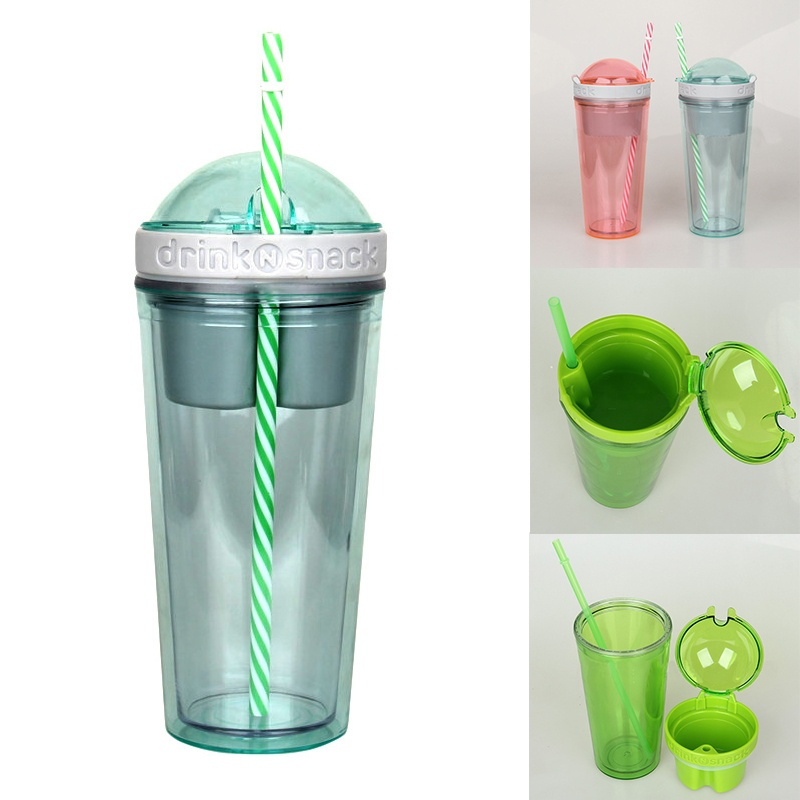 2 in 1 Travel Cup Snack Drink Container 7131291