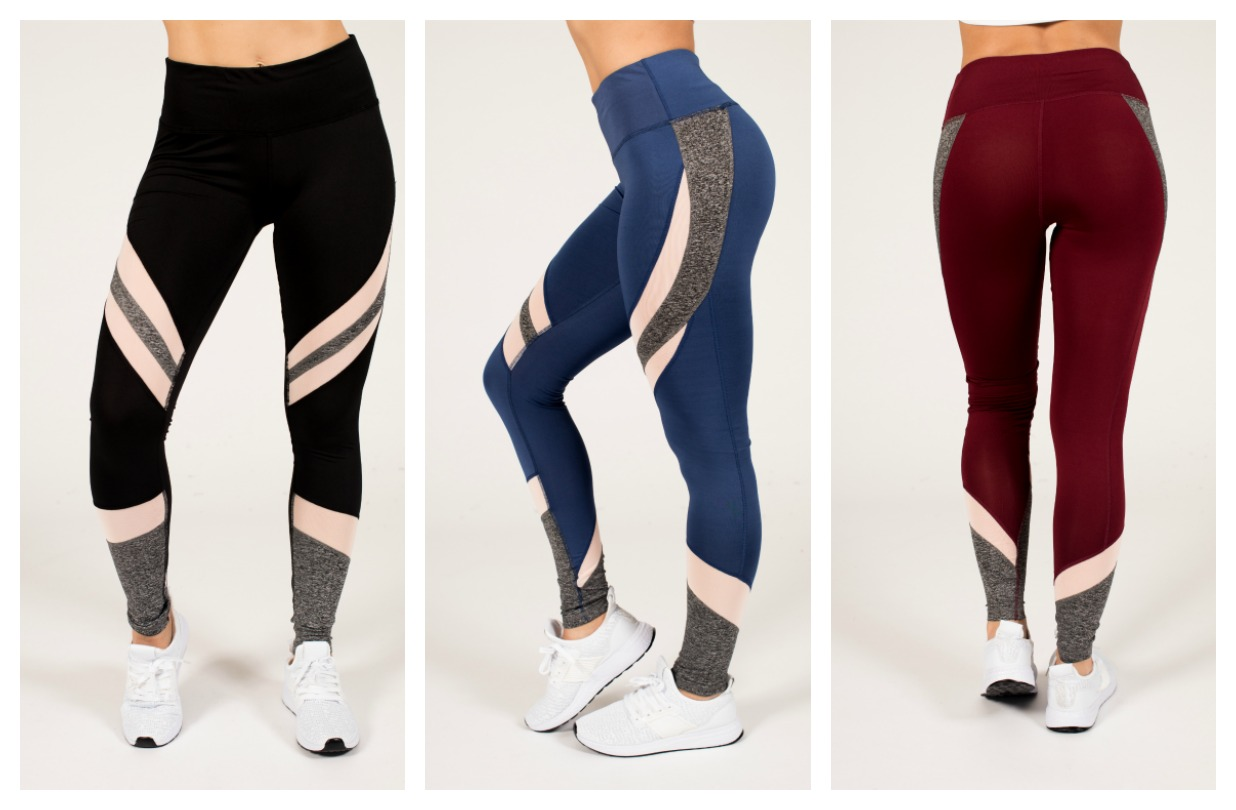 4-Pack Active Space-Dye and Mesh Leggings 9f133b726360