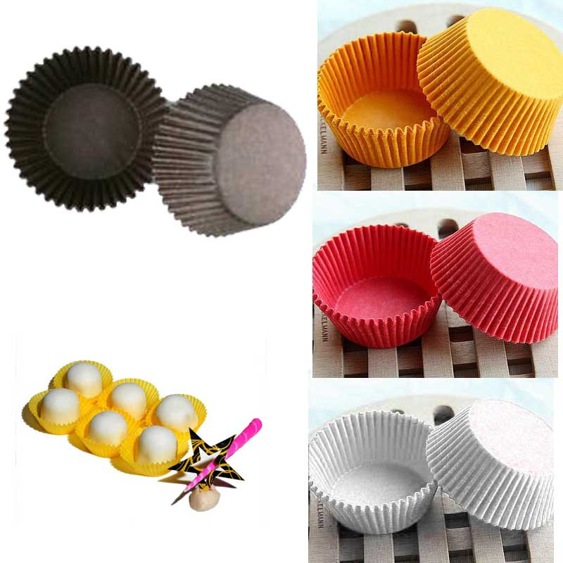 480 Pieces Paper Cupcake Baking Liners - Assorted Colors 5501162