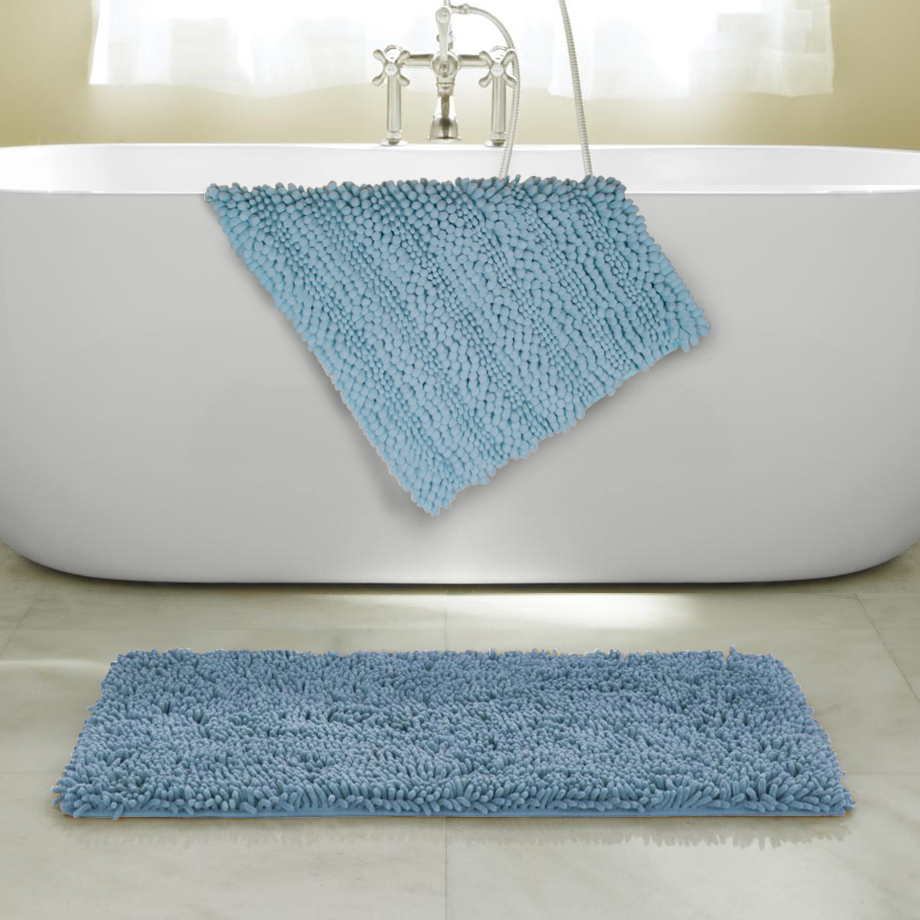 2-Pack  17  x 24  Ultra-Soft Anti Slip Bubbles Bath Mats