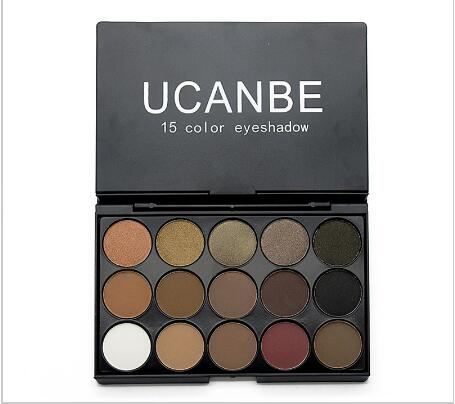 UCANBE 5 Styles 15 Earth Color Matte Pigment Glitter Eyeshadow Palette 8485756