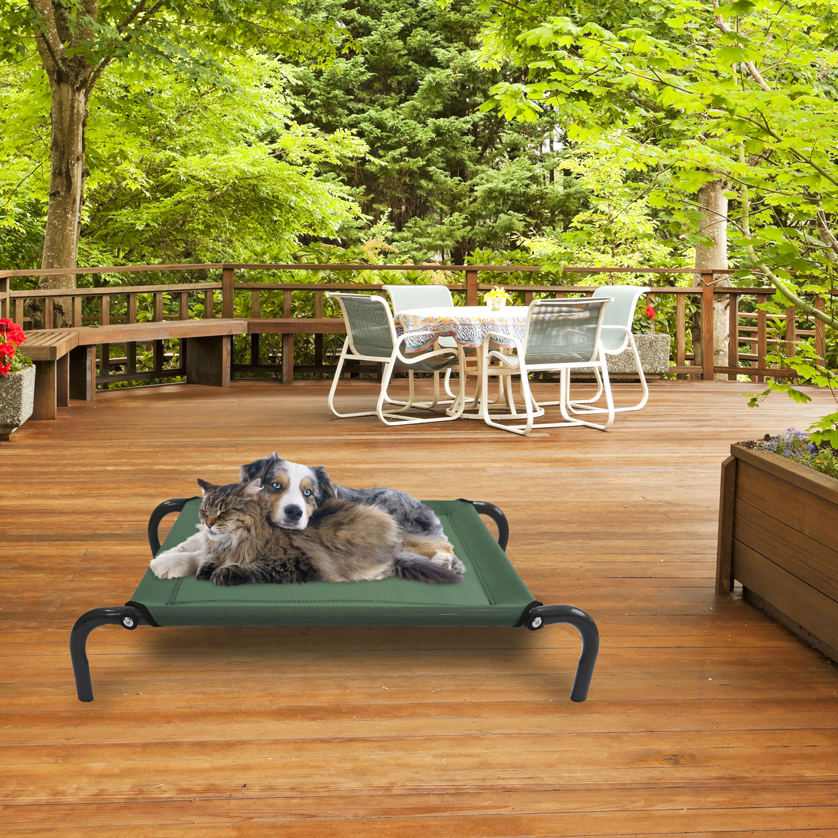 Elevated Steel Frame Pet Cot Bed Tanga
