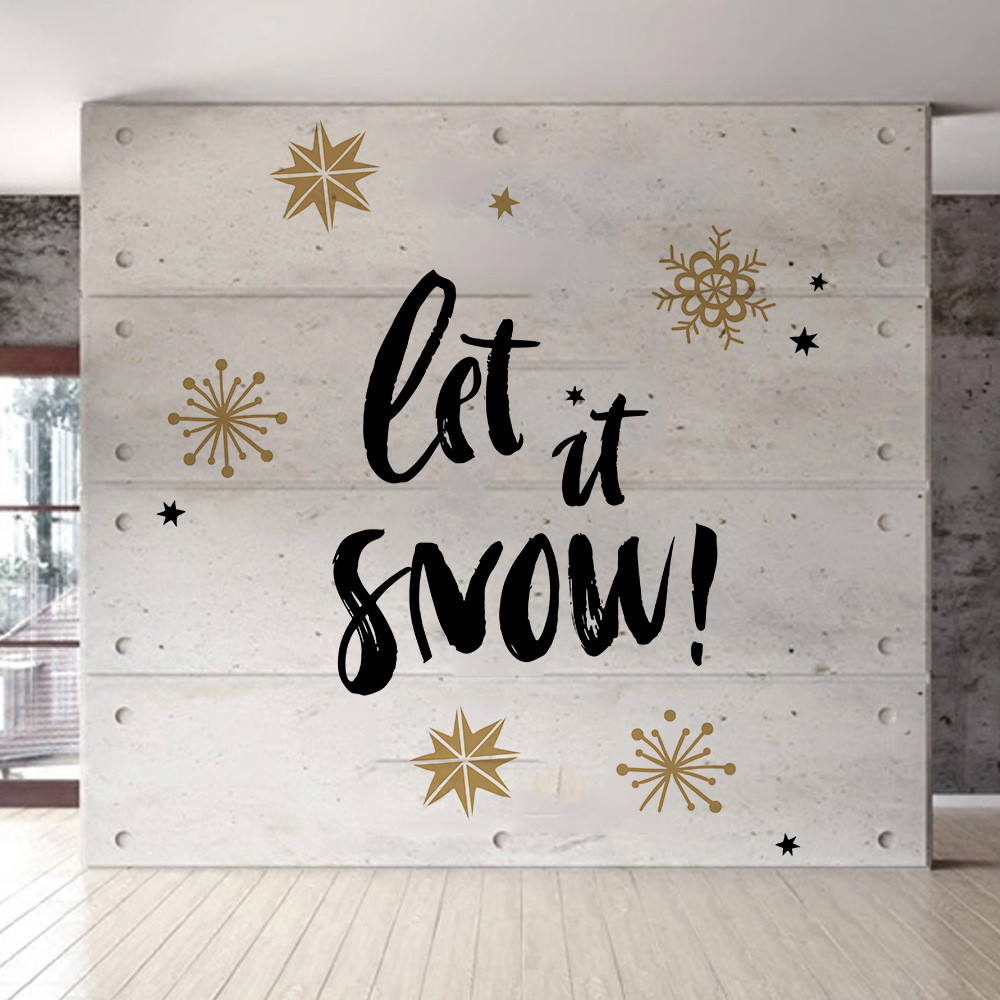Merry Christmas Background Wall Decoration Removable Wall Stickers
