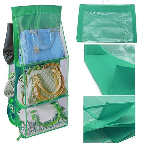 6 Pockets Hanging Handbag Organizer Storage Bellechic