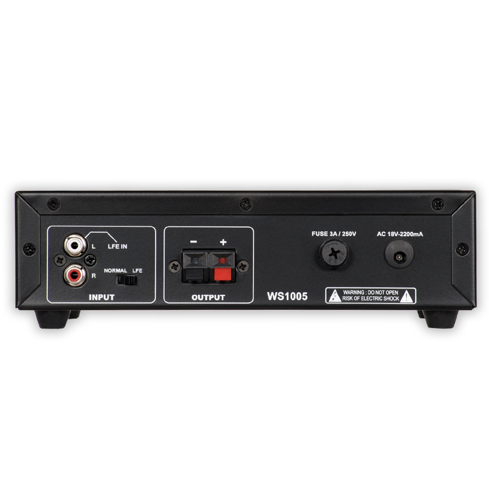 acoustic audio ws1005 passive subwoofer amp 200 watt amplifier for home tanga. Black Bedroom Furniture Sets. Home Design Ideas