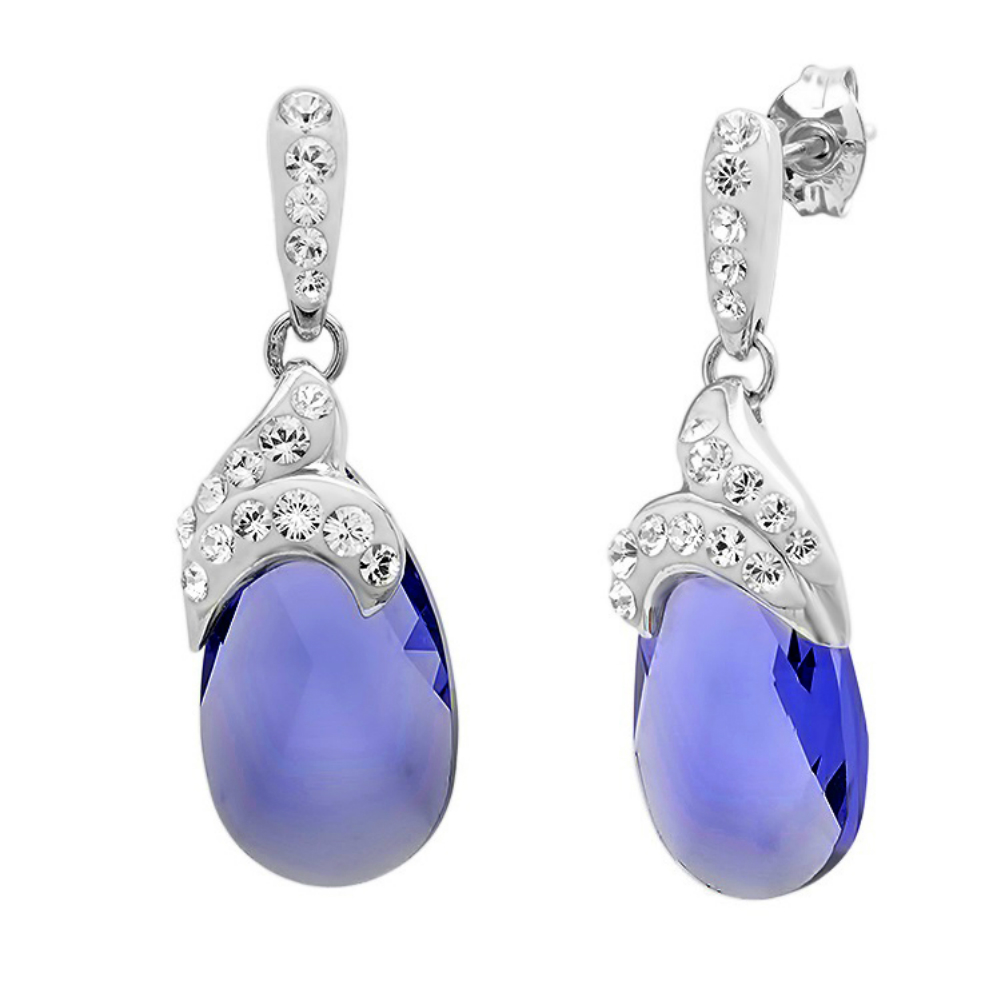 Sterling Silver Dangle Earrings made with Swarovski Crystals