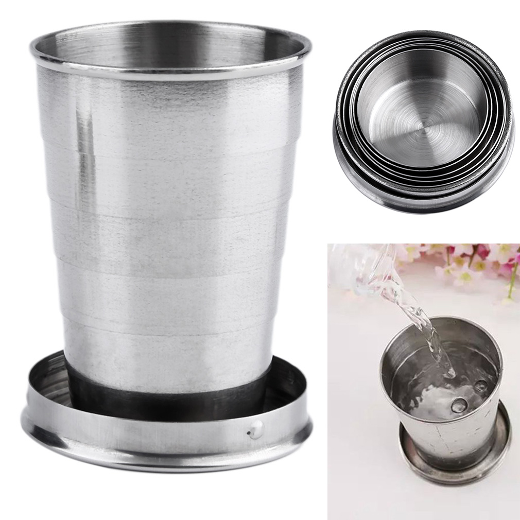 Stainless Steel Mini Travel Collapsible Keychain Cup 8290474