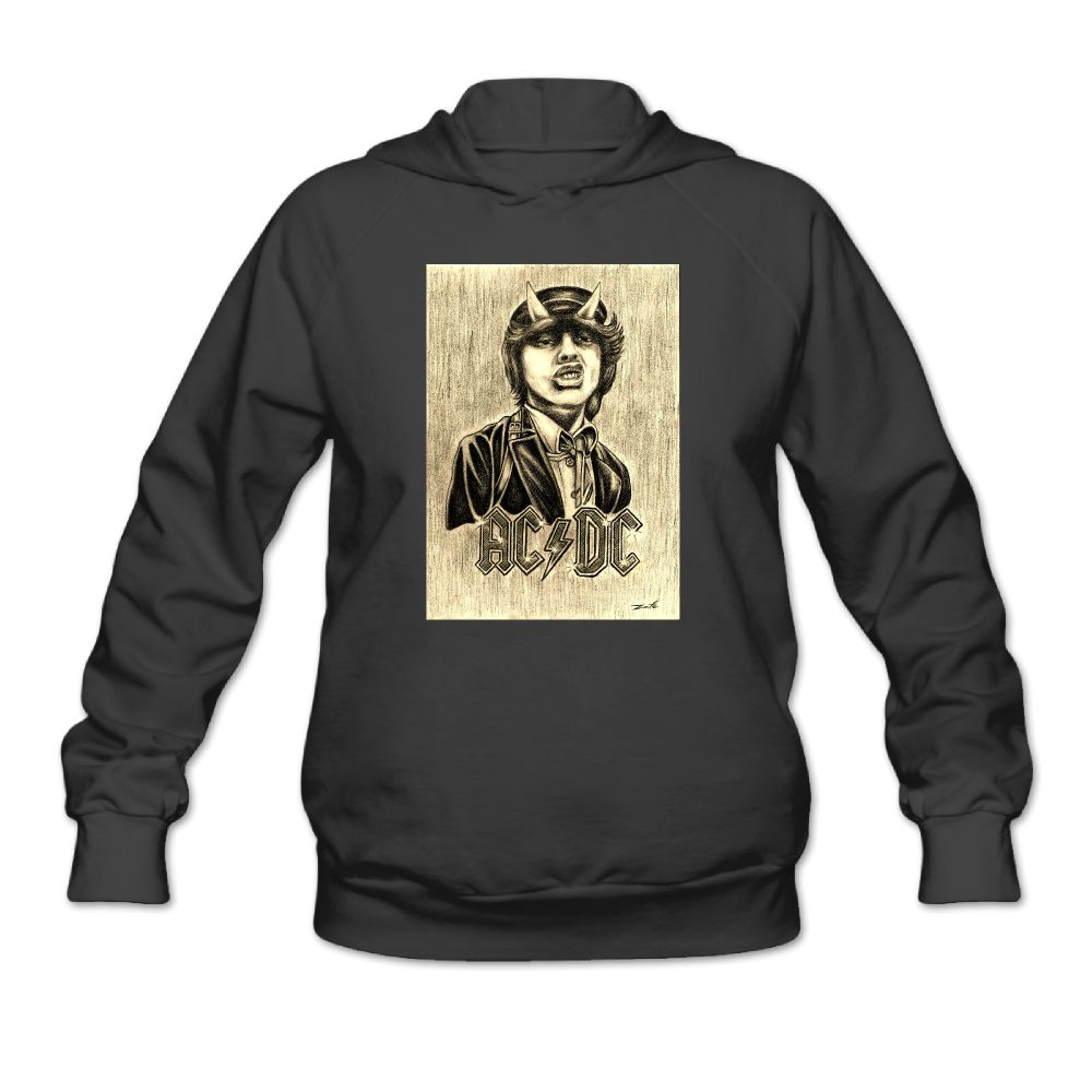 angus young ac dc women 39 s hoody hoodie hooded sweatshirt. Black Bedroom Furniture Sets. Home Design Ideas