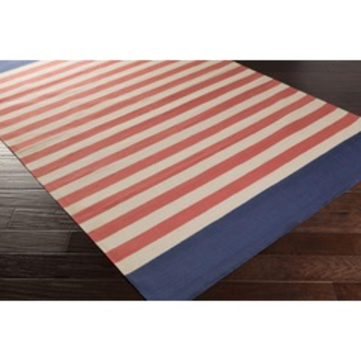 2 39 x 3 39 clean striped pink and navy blue reversible hand woven area rug tanga. Black Bedroom Furniture Sets. Home Design Ideas