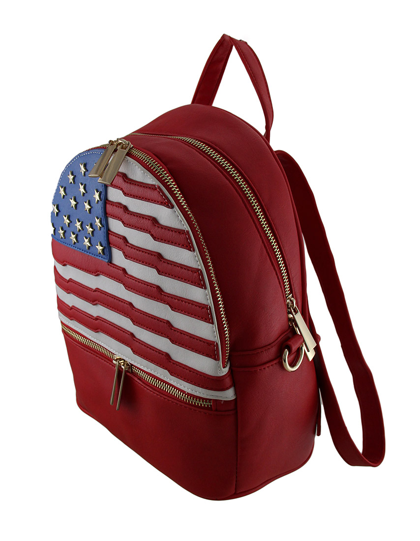 American Flag Inspired Faux Leather Small Basic ...