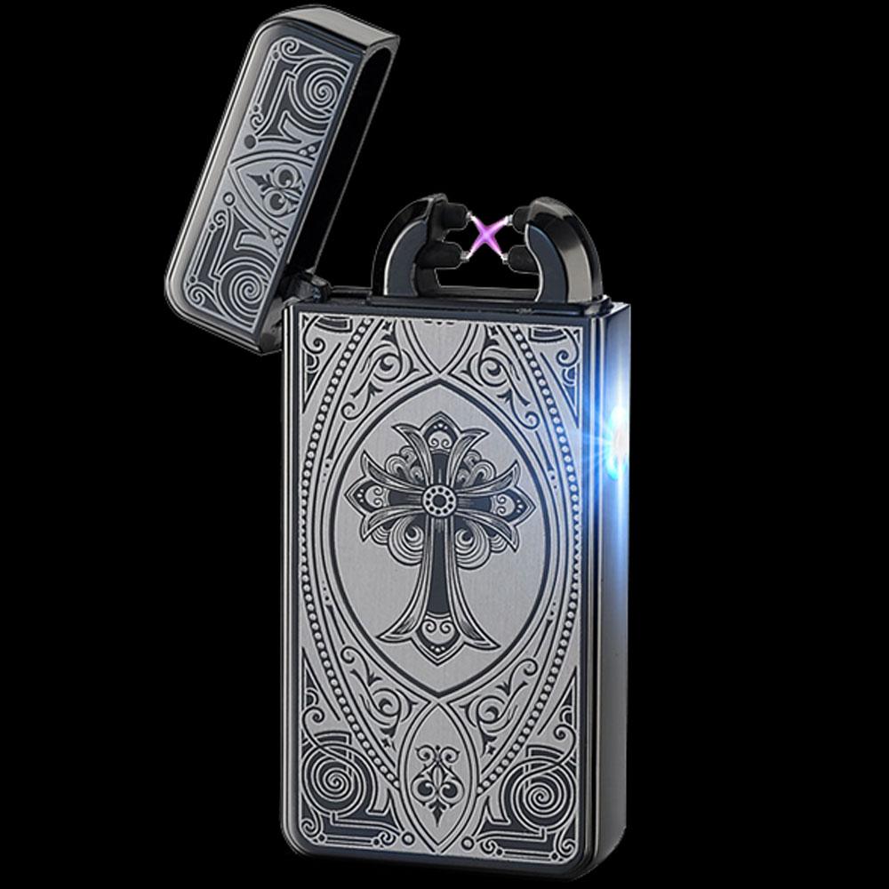 Black Cross Rechargeable Windproof Lighter