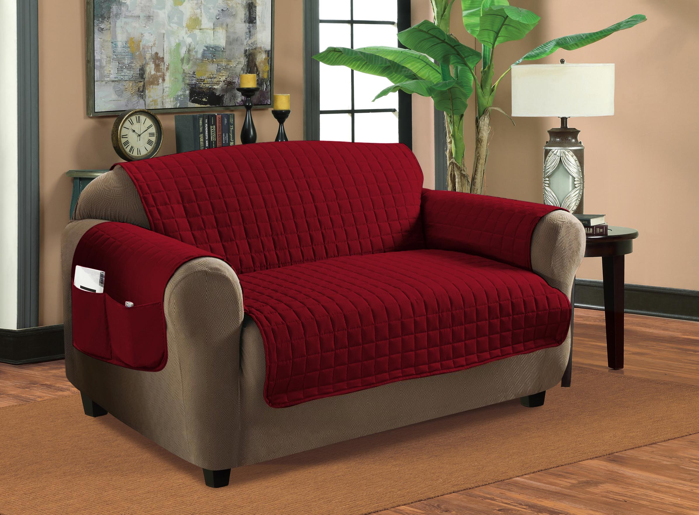 Home sweet home furniture protectors quilted sofa cover for Home sweet home sofa