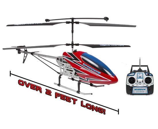 3.5ch Sparrow Remote Control Gyro Helicopter (2.5 feet) d46d0e0ba067