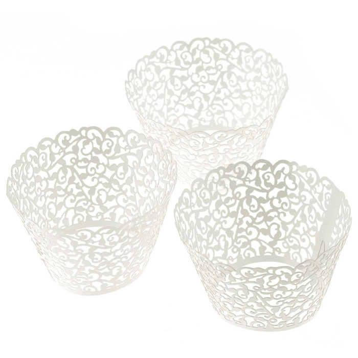 60 Piece Little Vine Lace Laser Cut Cupcake Liners 6591387