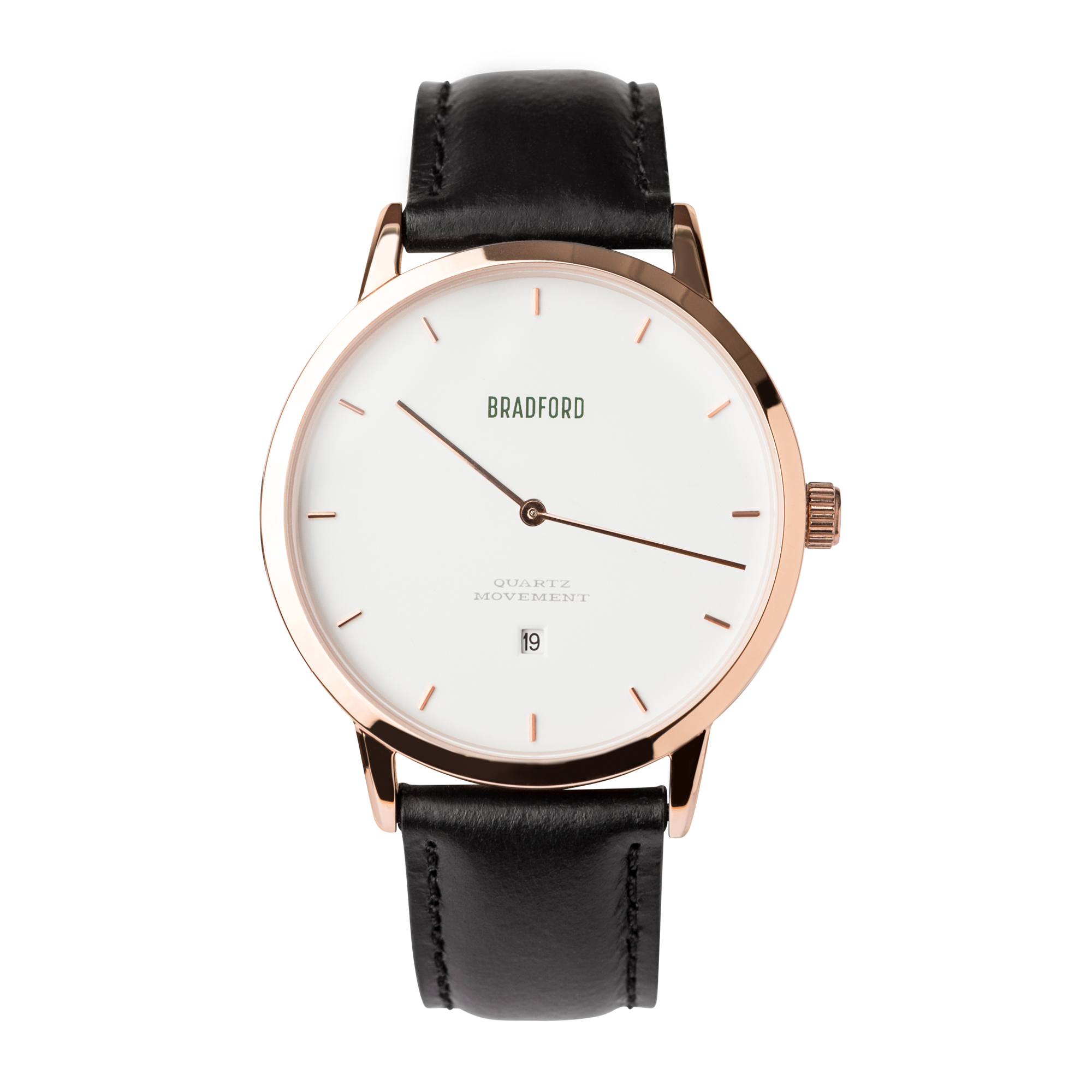 Bradford Watch Co.  The Taylor  40mm Watch on Strap - 4 Colors