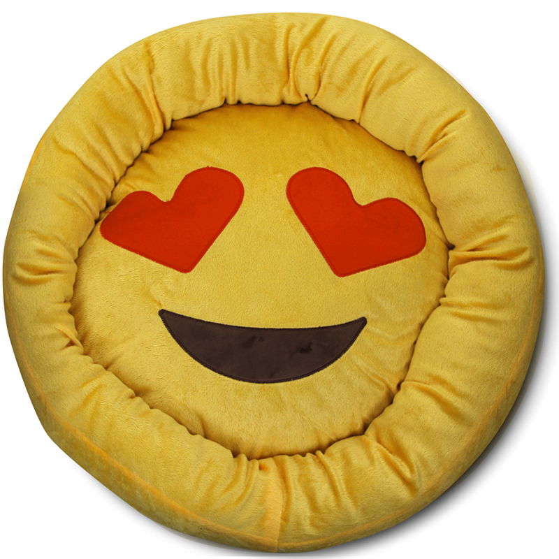 Ultra- Soft Emoji 23  Round Pet Bed
