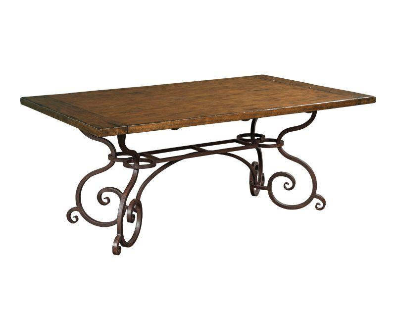 Kincaid artisans shoppe 72 inch rectangular dining table for Nfpa 72 99 table 7 3 2