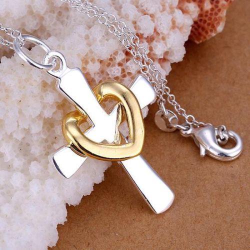 Heart and Cross Pendant Necklace abb2884f3e10