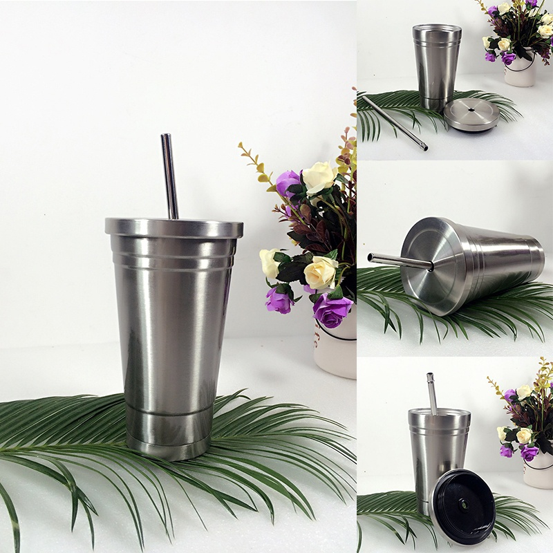 Double Layer Stainless Steel Cup and Leakproof Lid Vacuum Cup 6471154