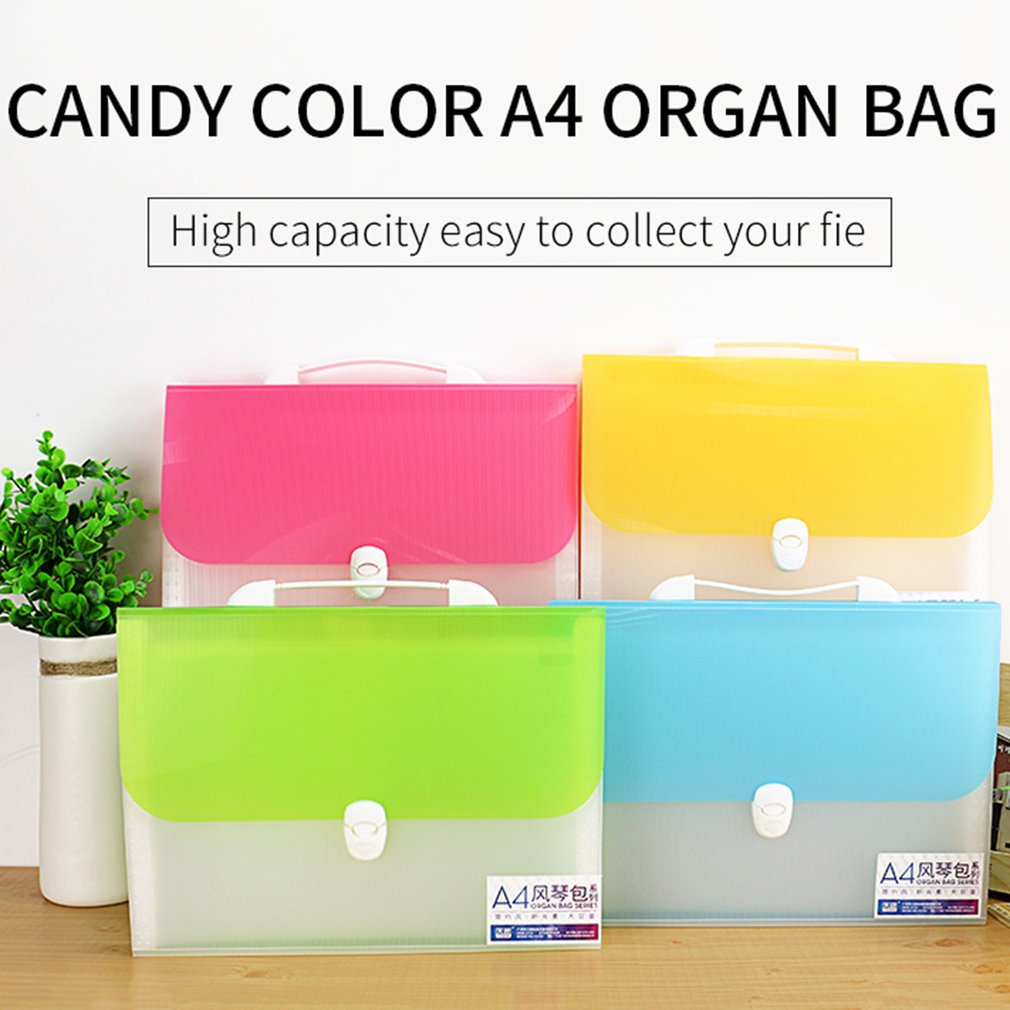 TIANSE A4 Organ  Candy Color Large Capacity Business File 13 Layers TS