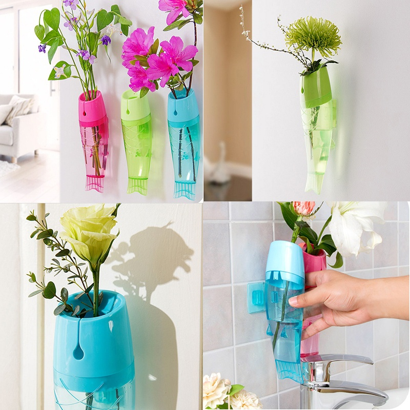 Plastic Fish Shaped Hanging Flower Vase 6566781