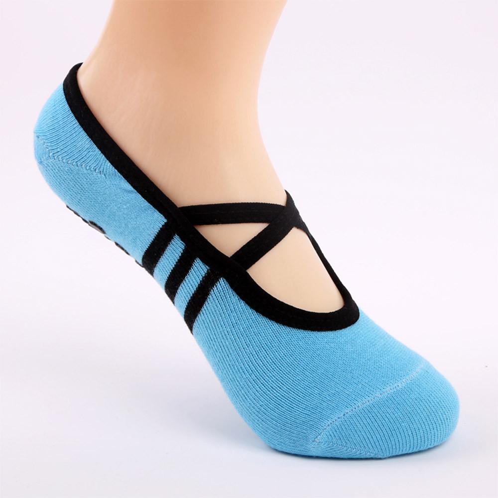 1 Pair Yoga Fitness Socks Non Slip Pilates Massage Ballet Socks B