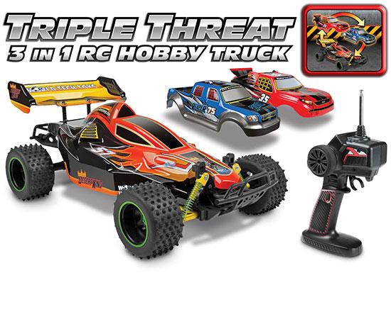 Triple Threat 3 In 1 Hobby 1 12 RTR Electric RC Truck b8355afac7f0
