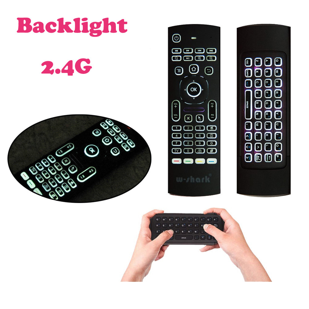 Mini 2.4G Backlit Wireless  Keyboard Air Mouse For PC Pad Android TV B
