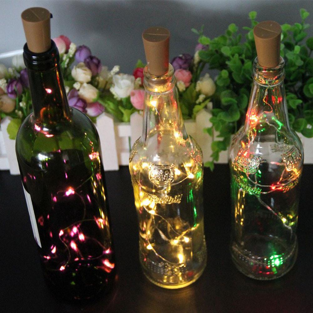 4PCS Solar Wine Bottle Cork Shaped String Light 10LED Night Fairy Ligh