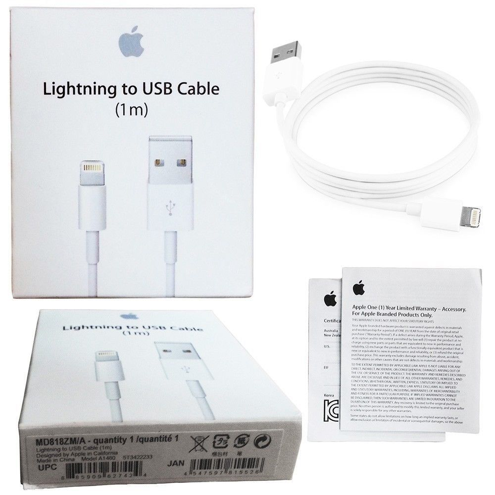 37b3720d1e3 Genuine Original Apple Lightning to USB Charge Cable iPhone 6s/Plus/5/SE -  Tanga