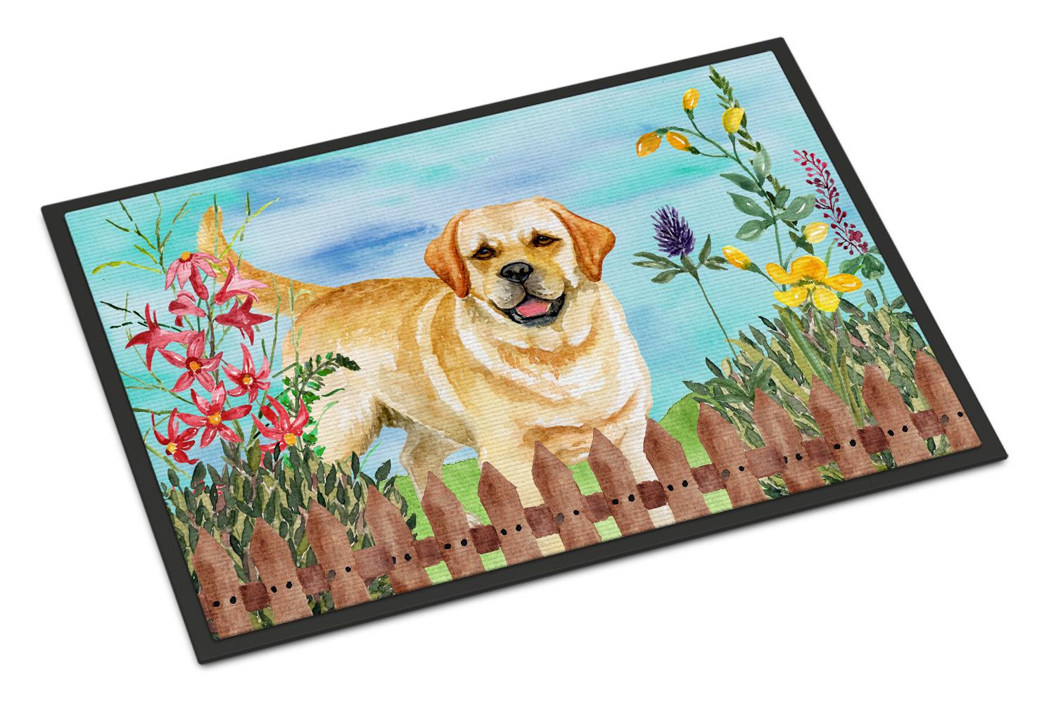Golden Retriever Spring Indoor Or Outdoor Mat 24x36 Tanga