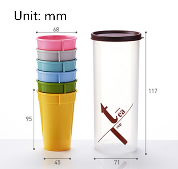 6-Piece Outdoor Travel Retractable Folding Cup 7173180