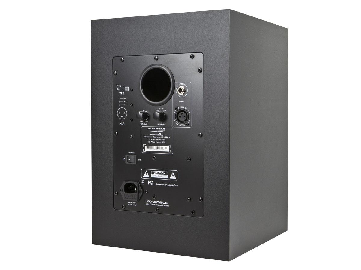 Monoprice8 inch powered studio multimedia monitor speakers for Salon multimedia