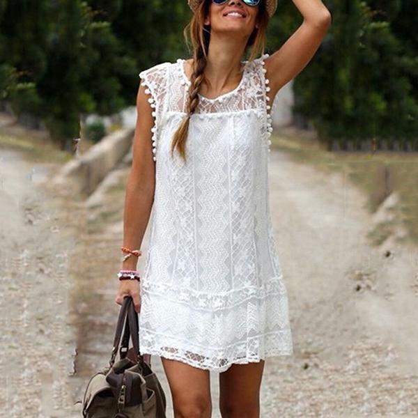 Women s Sleeveless Beach Dress