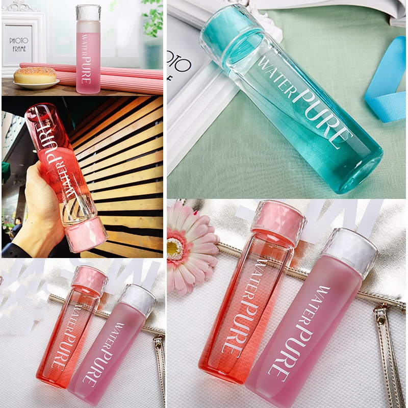 Fashion Macaron Candy Color Glass Water Bottles 6470629