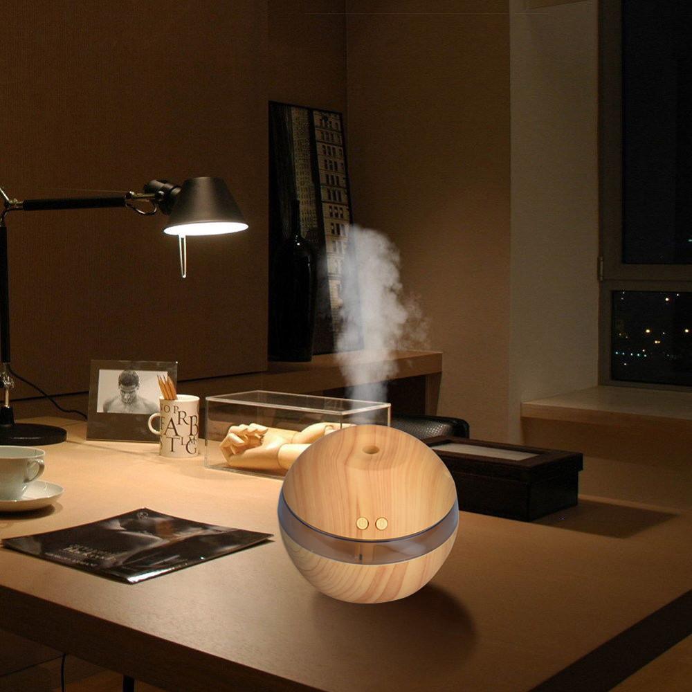 Mini LED Ultrasonic Aroma Aromatherapy Air Humidifier - Watch the Vide