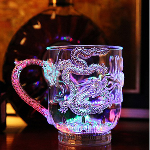 Dragon LED Inductive Rainbow Color Beer Cup 363722813632