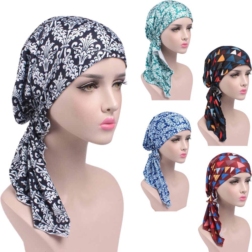 Women s Printed Turban Head Wrap Beanie Scarf