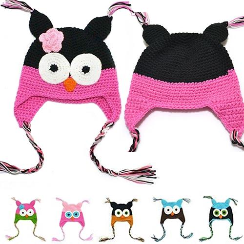 Cute Owl Knit Crochet Beanie a23bdb2b6f23