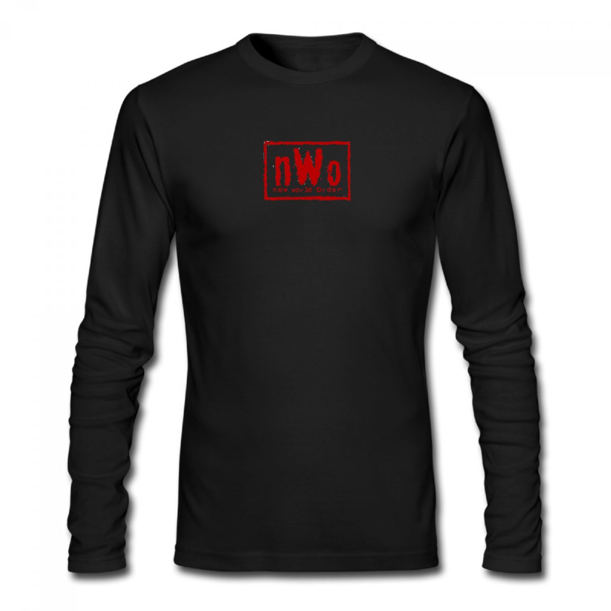 New world order logo c men 39 s long sleeve t shirt tanga for Order shirts with logo
