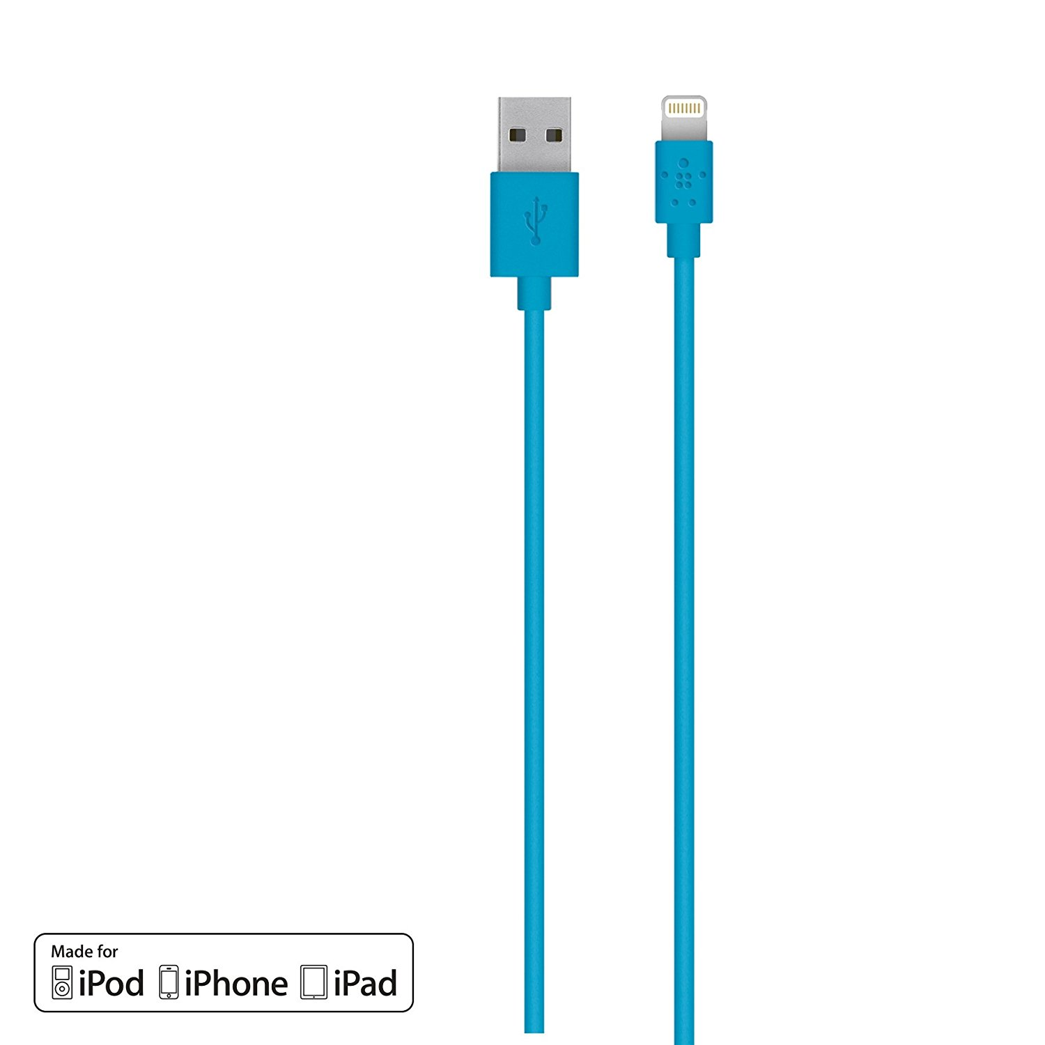 2-Pack  Belkin Apple Certified MIXIT 4-Foot Flat Lightning to USB Cabl