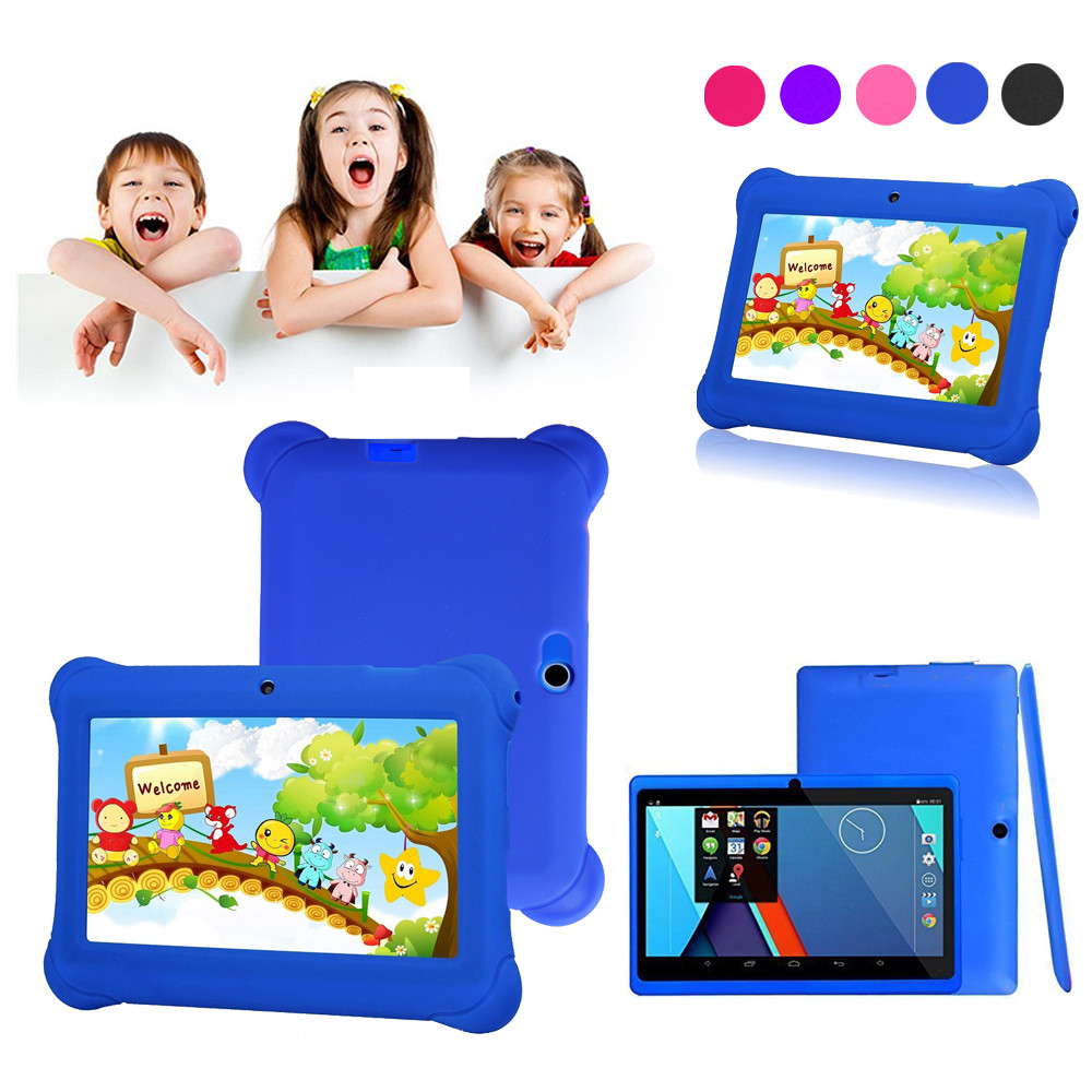 Kids Tablet PC 7inch Android 4.4 Case Dual Camera 1.2Ghz Wi-Fi Bonus I