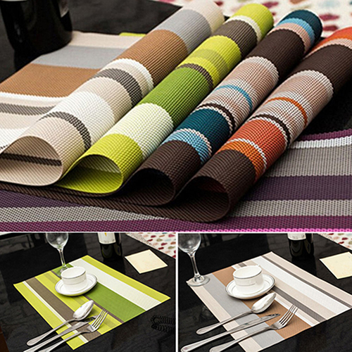 1Pc PVC Quick-drying Placemat Insulation Mat Kitchen Dining Table 9784402