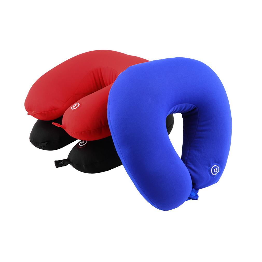 U Shape Travel Pillow Neck Massage Microbead Battery