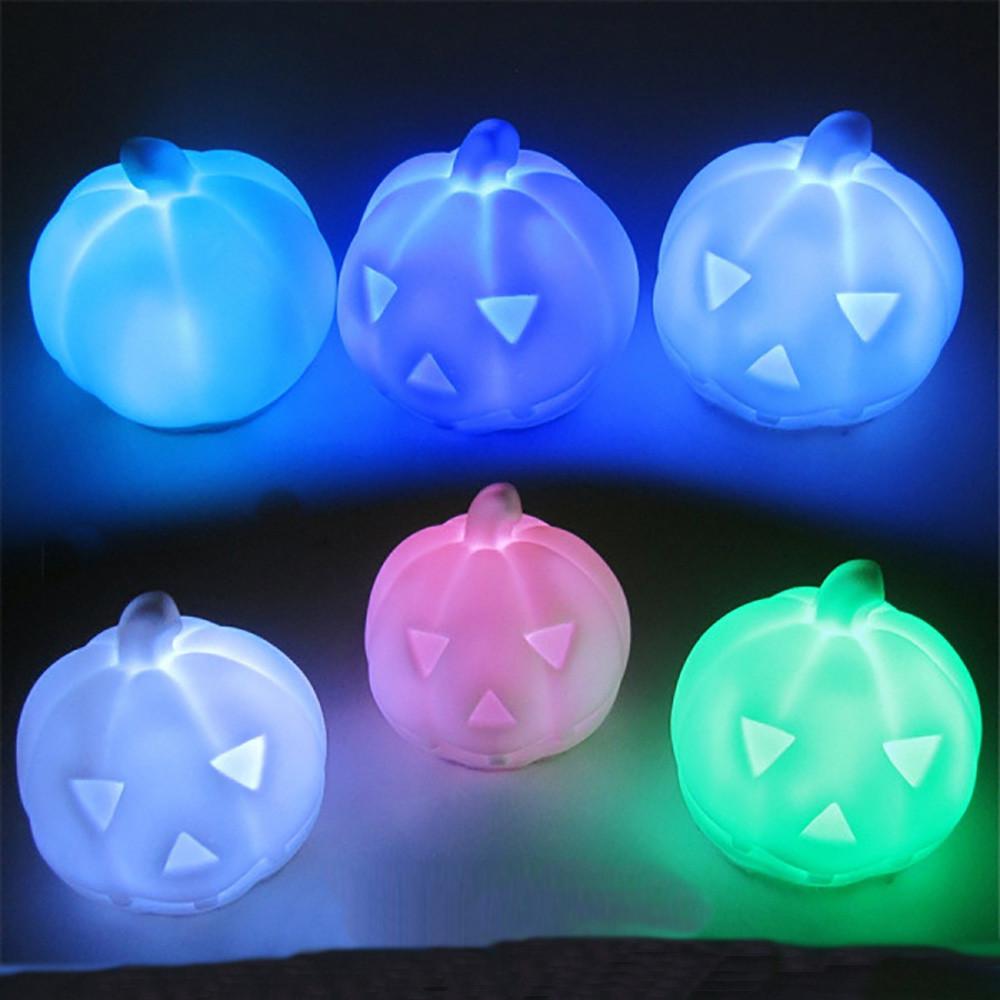 4pc Hallowmas Pumpkin Color Changing LED Light Lamp Home Decoration