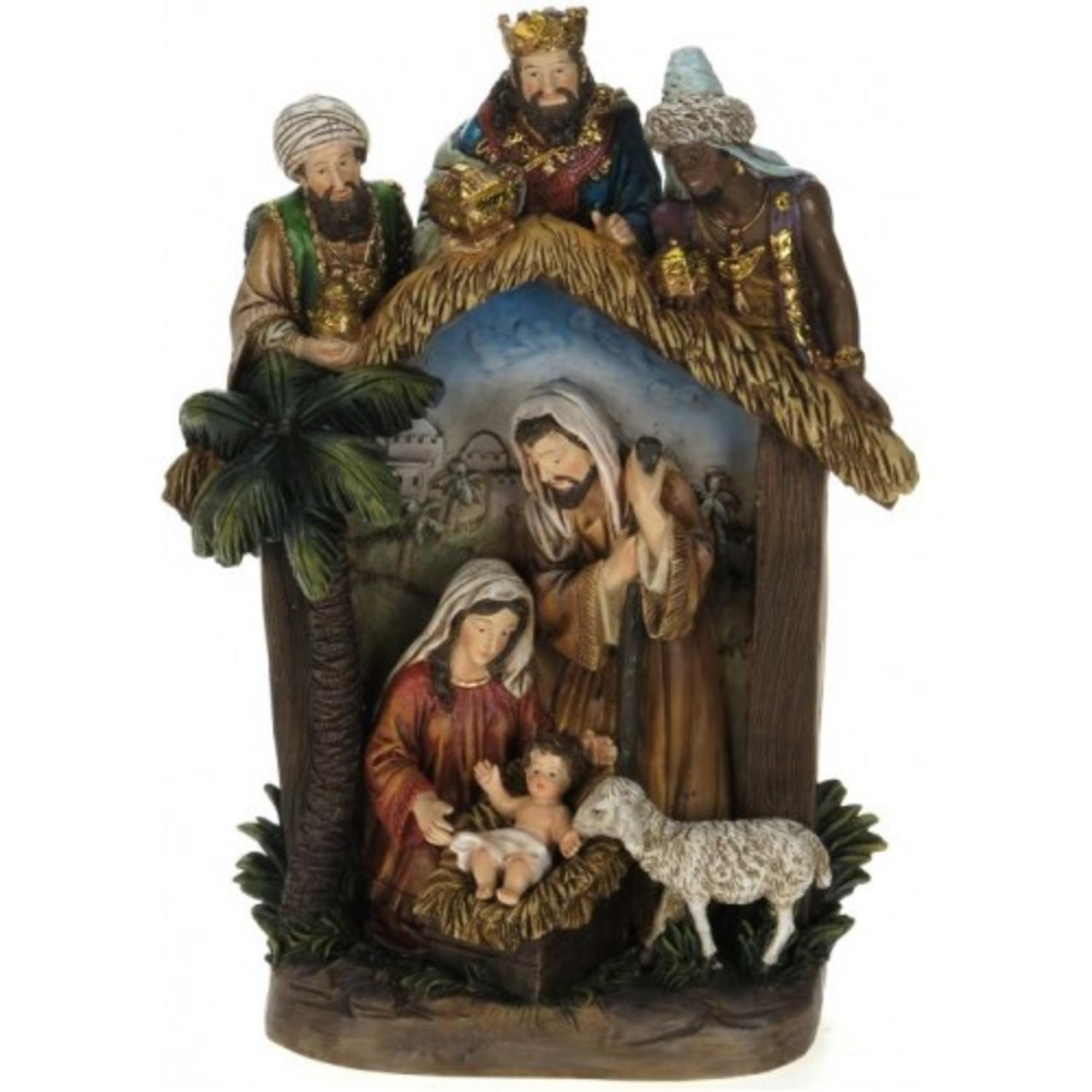 12 religious nativity creche scene christmas table top decoration tanga. Black Bedroom Furniture Sets. Home Design Ideas